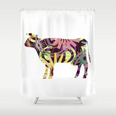 cow curtains cow p3 shower curtain shape home and atelier