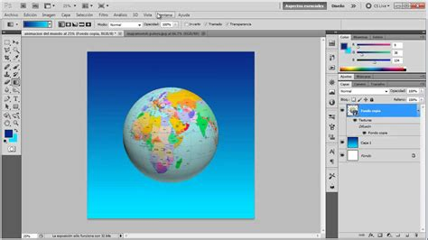 tutorial de photoshop cs5 youtube crear un mundo en 3d rotando sobre si misma tutorial de