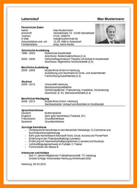 Aufbau Tabellarischer Lebenslauf 2014 12 aufbau lebenslauf recommendation template