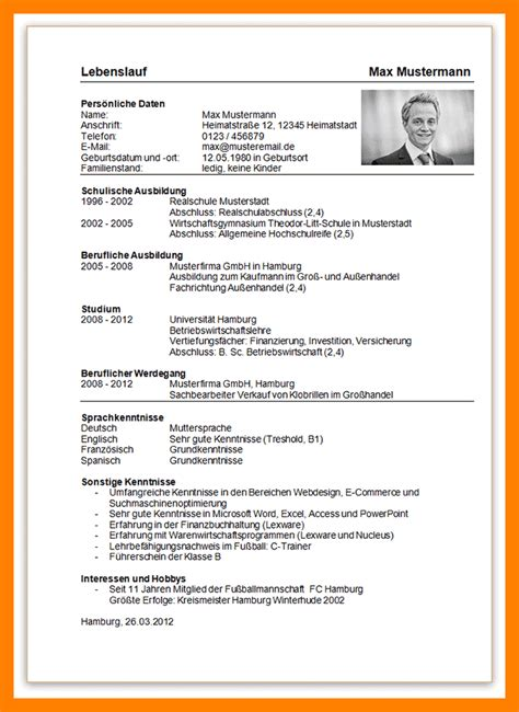 Aufbau Lebenslauf Master 12 Aufbau Lebenslauf Recommendation Template