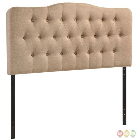 tufted arched headboard annabel modern fabric button tufted arched queen headboard