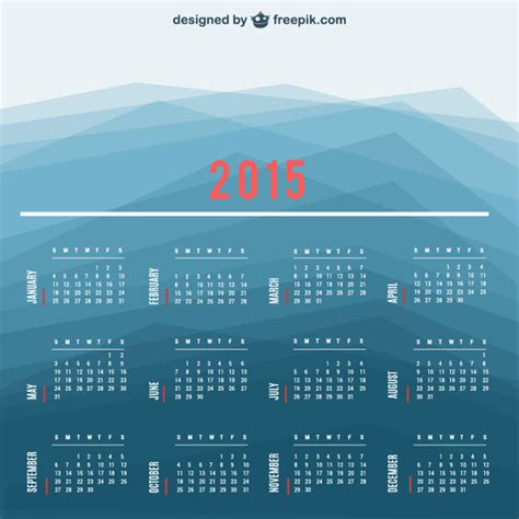 Calendario Animal Protector 2015 Calendar Vector With Polygonal Background Vector