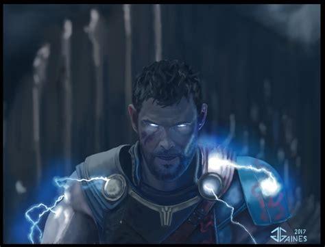 thor ragnarok fan thor ragnarok bringing the lightning by gkgaines on