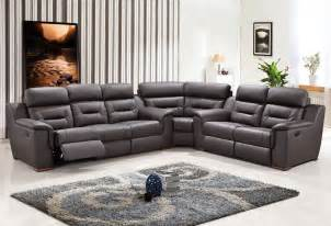 contemporary reclining sectional sofa modern grey leather