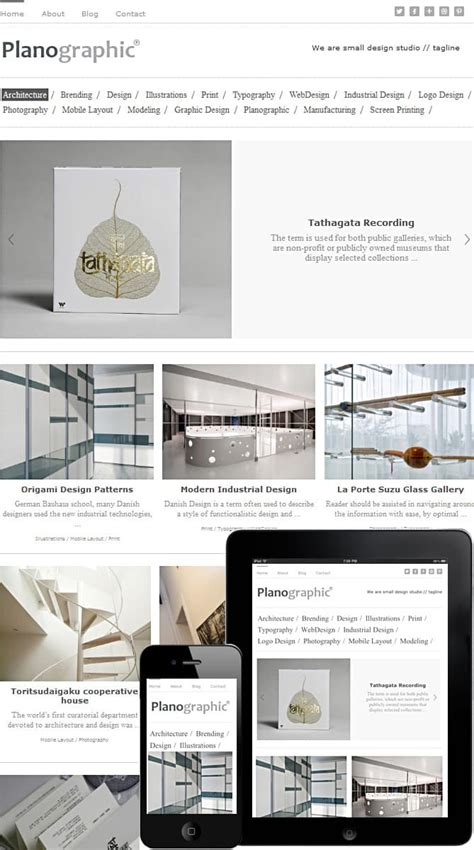 Elegant Themes Mobile Responsive | planographic wordpress theme best wordpress themes for
