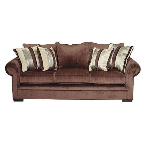 Traditional Sofa Beds by Northshore Chocolate Upholstered Casual Traditional Sofa