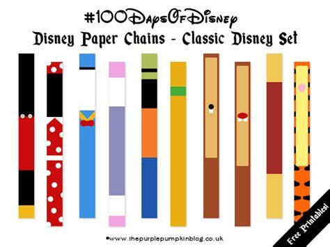 printable paper chains disney paper chains 100daysofdisney 187 the purple pumpkin blog