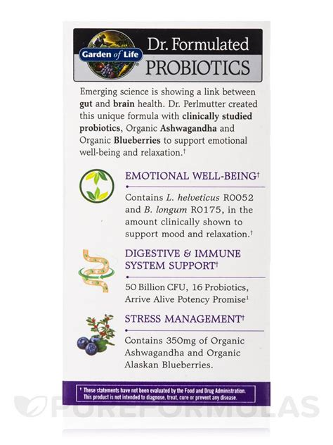 Garden Of Probiotics Mood Dr Formulated Probiotics Mood 60 Vegetarian Capsules