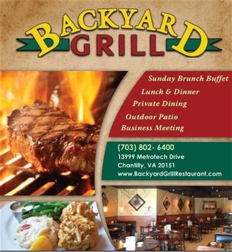 backyard bar and grill chantilly backyard grill chantilly menu prices restaurant