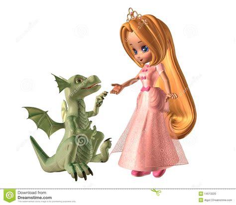 el dragn la princesa drag 243 n de la princesa y del beb 233 de toon foto de archivo imagen 14513220