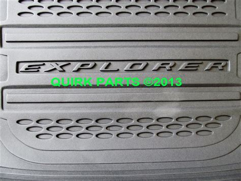 2014 Ford Explorer Rubber Floor Mats by 2013 2014 Ford Explorer All Weather Protection Floor Mats Cargo Tray Oem New Ebay