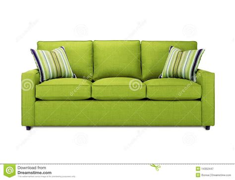 green settee green sofa royalty free stock photography image 14352447