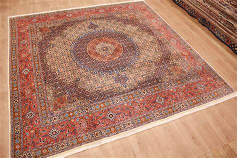 teppiche quadratisch teppich perser teppich moud mit seide 300x300 cm quadratisch