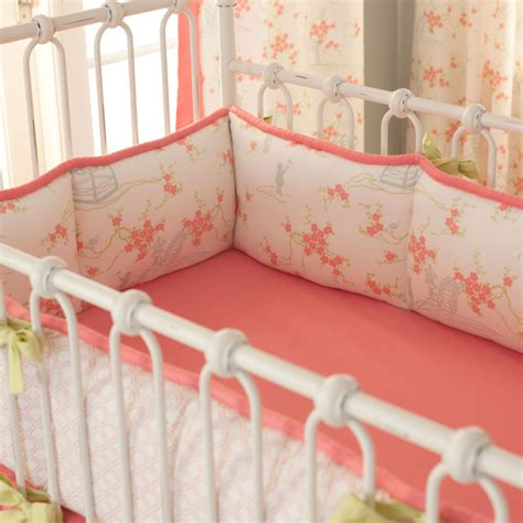 White Baby Crib Bumper White Pagoda Crib Bumper Asian Baby Bedding Atlanta