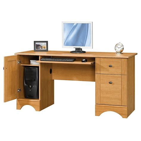 Office Depot Computer Desks For Home Realspace Dawson 60 Quot Computer Desk 30 Quot H X 60 Quot W X 24 Quot D Maple Bedroom And More