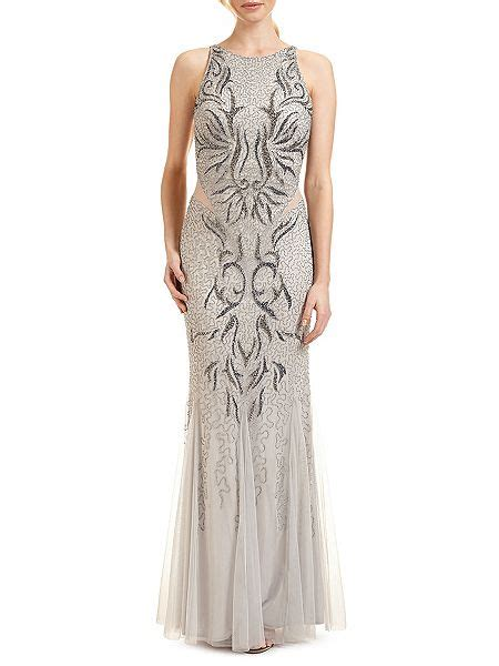 ariella areida beaded dress silver house of fraser