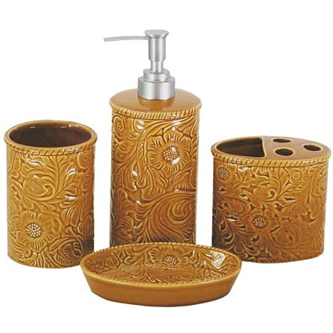 western bath accessories set mustard