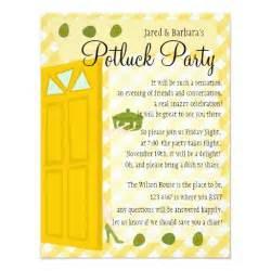 Potluck invite wording