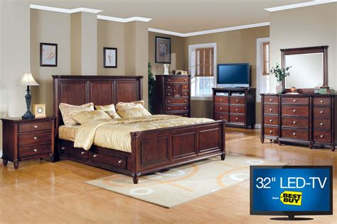 hamilton queen bedroom set with 32 quot led tv