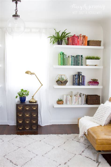 Shelf In The Room by Bright And Colorful Family Room Risenmay