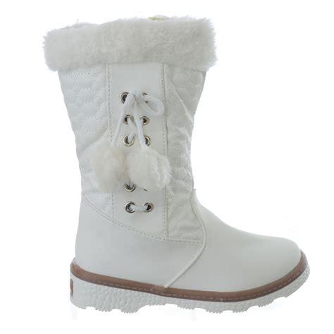 fashion snow boots children infants warm winter pom pom fashion