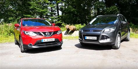 nissan ford 2015 nissan qashqai vs ford kuga comparison test reveals