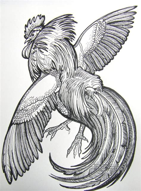 fighting rooster tattoo designs the fighting rooster by houseofchabrier on deviantart
