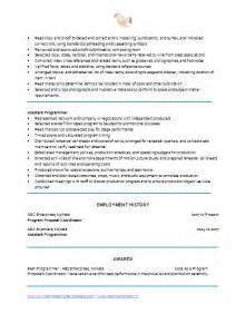 facilitator resume sle sle resume education coordinator resume sle program