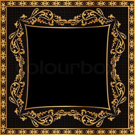 frame pattern gold illustration frame background gold en pattern on black