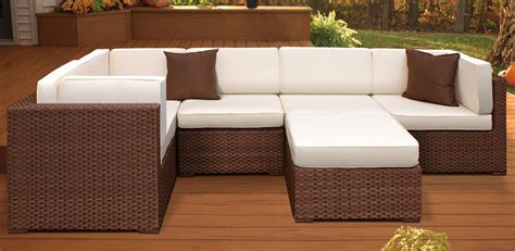 l shaped outdoor sofa l shaped patio sectional 25 awesome modern brown all
