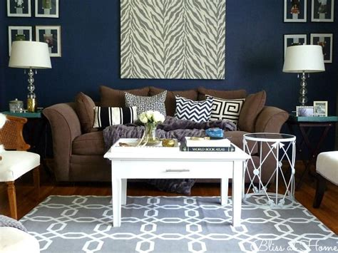 navy blue and chocolate brown living room 1000 images about living room decor brown blue and white palette on furniture