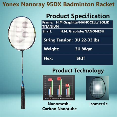 Raket Yonex Nanoray 700 yonex nanoray 95dx badminton racket buy yonex nanoray 95dx badminton racket at lowest