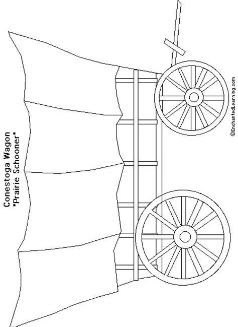 covered wagon coloring page enchantedlearning com
