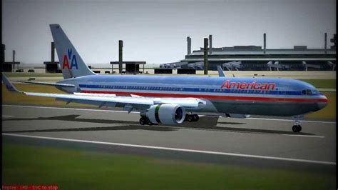 Mba At American Airlines Reviews by Fs2004 Pouso De Boeing 767 300 Da American Airlines No