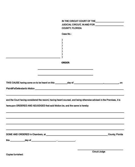 Returns To Courtsort Of by Court Order Template Pictures To Pin On Pinsdaddy