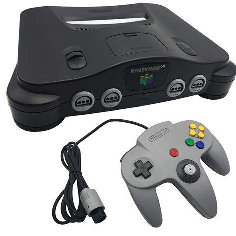 buy nintendo console nintendo 64 charcoal black console pre owned the gamesmen
