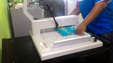 Mesin Potong Kertas cara menggunakan mesin potong kertas origin xt500 max 1