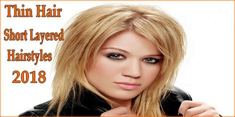 hairstyles for thin hair to look thicker thin hair short layered hairstyles thick hair look for