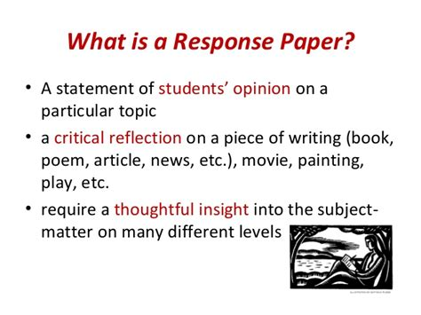 What Is A Response To Literature Essay by Writing A Response Paper