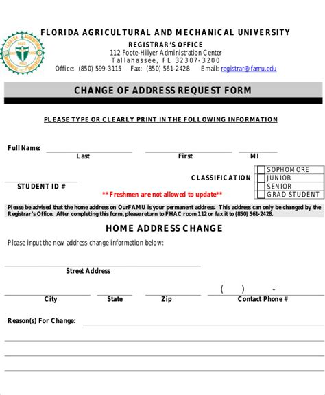 address request form 9 sle address request forms sle templates