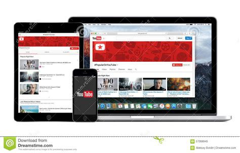 youtube layout ipad youtube app logo on the iphone ipad and macbook pro screen