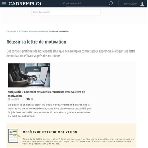 Conseils De Lettre De Motivation Redaction Lettre De Motivation Employment Application