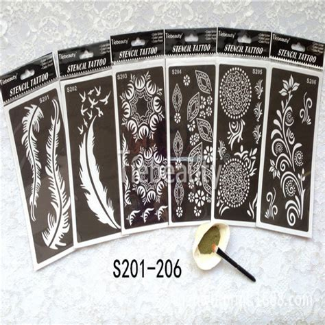 india henna temporary stencils kit for arm leg