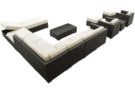 fusion sectional fusion outdoor patio sectional 12pc set choice of color