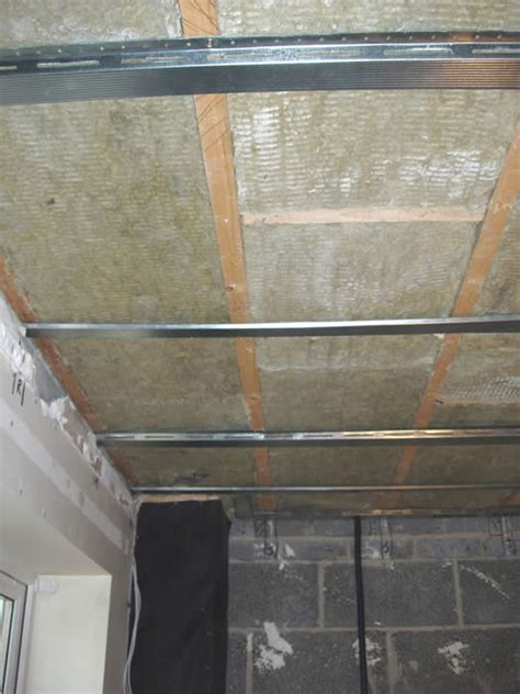 Sound Insulation Ceiling by Acoustic Mineral Wool Installation