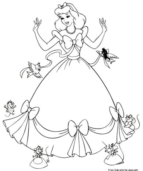 cinderella dress coloring pages cinderella dress up coloring pages printable for girlsfree