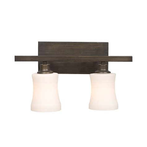 Bronze Bathroom Vanity Lights Shop Galaxy 2 Light Delta Rubbed Bronze Standard Bathroom Vanity Light At Lowes