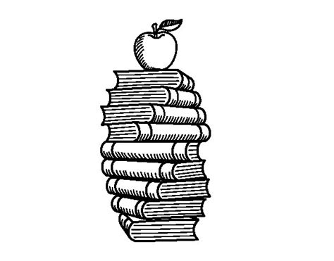 libros para colorear online dibujo de libros y manzana para colorear dibujos net