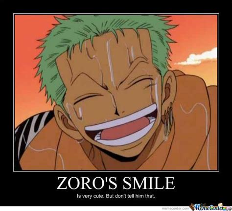 zoro funny zoros smile meme center pirates