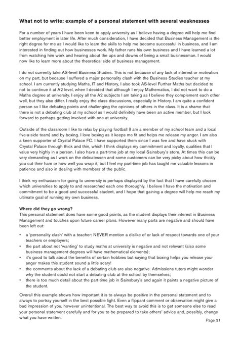 personal statement sixth form template personal statement writing guide